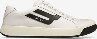 The New Competition White, Womens plain calf leather trainers in white Bally