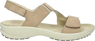 Sandale Damen bama Leder, hellgrau