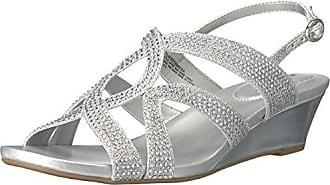 Bandolino Frauen GoMeisa Offener Zeh Leger Sandalen mit Keilabsatz Silber Groesse 6 US/37 EU