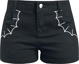 Walk the Line Girl-Shorts schwarz/rot Banned