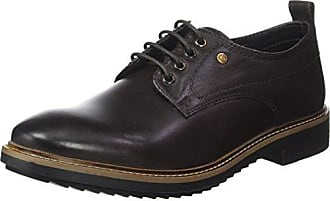 Base London Turner, Zapatos de Cordones Brogue para Hombre, Azul (Navy HI Shine 402), 42 EU