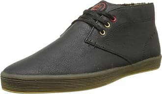 Sussex - Sneaker Uomo, Nero (Noir (Washed Grey)), 44 Base London