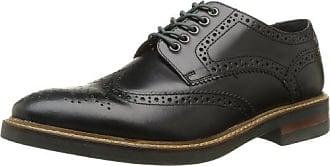 Base London Shore - Zapatos de cordones de cuero para hombre marrón Marron (241 Pull Up Tan) 45