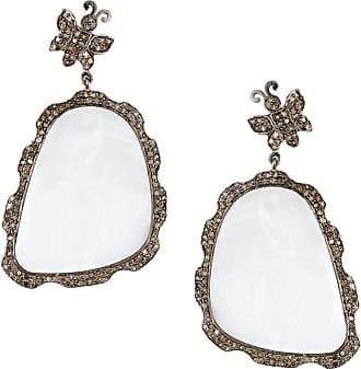Bavna Mother-of-Pearl Butterfly Drop Earrings