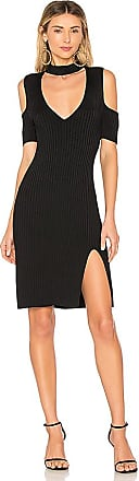 Ria Asymmetrical Wrap Dress In Black in Black. - size S (also in XS) Bcbgmaxazria