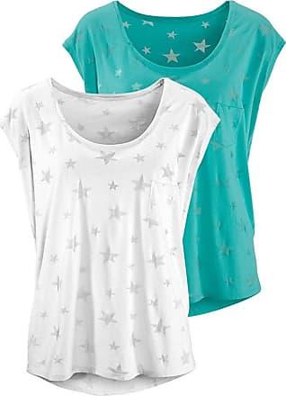 T-Shirts (2 Stück) türkis / weiß Beach Time