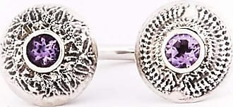 Becky Dockree Silver Amethyst Double Dome Ring - UK M - US 6 - EU 52 3/4