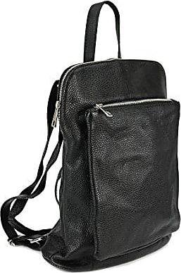 Backpack Seattle ital. Leder Rucksack Handtasche Cross Body Bag 3in1 - Farbauswahl - 29x32x11 cm (B x H x T) (Taupe) Belli