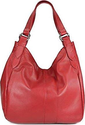 ital. Nappa Leder Shopper Handtasche Damentasche Ledertasche maronen braun - 35x31(mittig) x17 cm (B x H x T) Belli