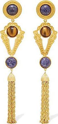 Ben-amun Woman Gold-tone And Stone Clip Earrings Gold Size Ben-Amun