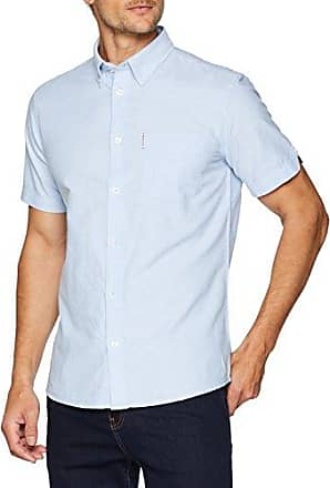Ben Sherman The Romford Polo, Polo Coupe Droite Col Polo Manches Courtes Homme, Brown (Port Royale Marl), M