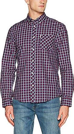 LS Marl Multi Gingham, Camisa para Hombre, Rojo (Red), L Ben Sherman