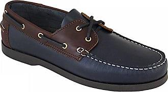 Beppi Portugiesisch Damen Leder Bootsschuhe Marineblau/Braun EU 40