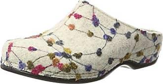Berkemann Damen Donata Pantoffeln, Mehrfarbig (Weiß/Tupfen 139), 36 1/3 EU