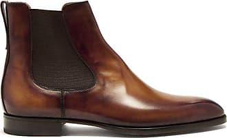 Epure Full-grain Nubuck Leather Slides - BrownBerluti