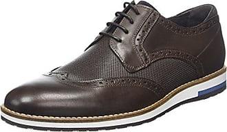Bertie Radius, Zapatos de Cordones Oxford para Hombre, Negro (Black Leather), 41 EU