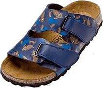 Betula Step Sandalen Birko-Flor, Blue Matrix, Größe 26 mit schmalem Fußbett
