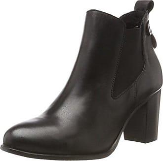 Bianco Modischer, Chelsea Boots Femme, Noir (Black 10), 37 EU