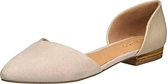 Bianco Offener Ballerina 25-49348, Bailarinas con Punta Cerrada para Mujer, Beige (Nougat), 39 EU
