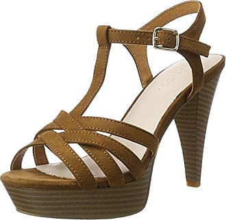 BIANCO Strappy 2049214 Sandali con Plateau Donna Marrone Light Brown