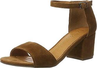 Elastic Cross Sandal 21-49265, Sandalias para Mujer, Marrón (Light Brown), 39 EU Bianco