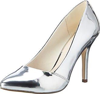 Der Beliebte Party Pump 24-49383, Zapatos de Tacón con Punta Cerrada para Mujer, Plateado (Silver 91), 38 EU Bianco
