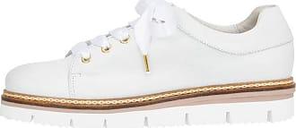Rillensohlen Schnür Schuhe braun / weiß Bianco