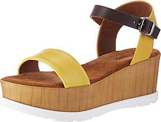 Bianco Damen Strap Sandal Pantoletten, Gelb (Yellow), 40 EU