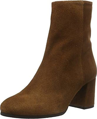 Womens Full Suede 26-49063 Ankle Boots Bianco