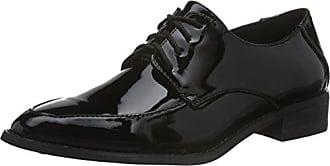 BiancoCrepe Laced Up JJA16 - Zapatos Planos con Cordones Hombre, Color Negro, Talla 44 EU