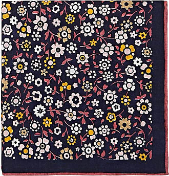Mens Floral-Print Silk Pocket Square Bigi Cravatte Milano