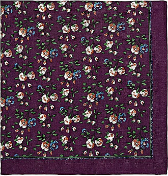 Mens Floral Wool-Silk Pocket Square Bigi Cravatte Milano