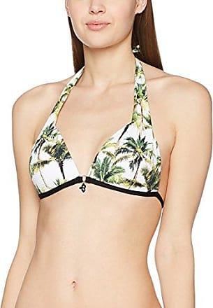 Bikini Bar Palila - Haut de Maillot de Bain - Triangle - À Fleurs - Femme - Orange (Capucine) - FR: 42 (Taille Fabricant: 42)