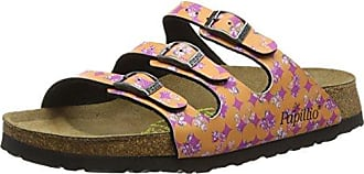 Papillio Florida Birko-Flor, Damen Pantoletten, Mehrfarbig (Floral Circles Pink), 39 EU