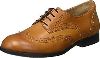 Ten Points New Toulouse, Zapatos de Cordones Brogue para Mujer, Marrn (Cognac 319), 37 EU