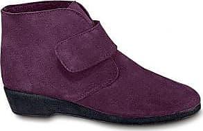Boots scratchées cuir - violineBlancheporte