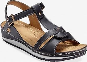 Sandales corde compensées effet reptile - noir - noirBlancheporte