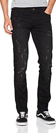 20704003, Vaqueros Skinny para Hombre, Negro (Denim Black 76204), 33W x 34L Blend