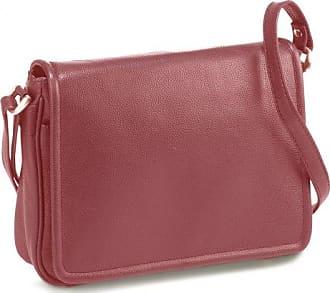 Leder Tasche Überschlagtasche rot Bodenschatz