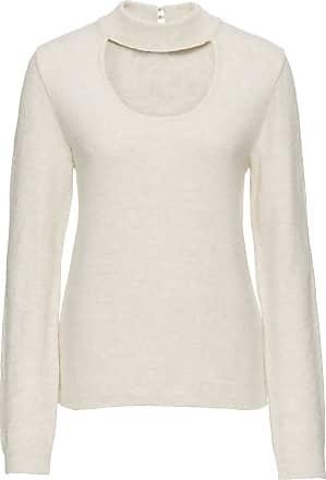 Sommer-Pullover mit Ajourmuster langarm in lila von bonprix Bodyflirt