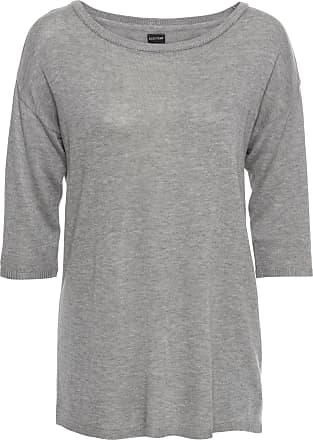 Oversize-Pullover 3/4 Arm in rosa von bonprix Bodyflirt