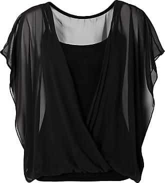 Shirtbluse kurzer Arm in schwarz (Rundhals) von bonprix Bodyflirt
