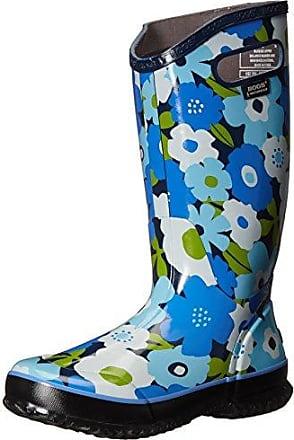 Ladies Bogs Spring Flowers Blue Multi Wellies Festival Rainboot Sizes 4 FUzgae