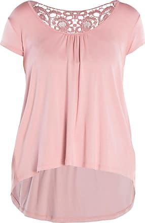 52d50a22f8 Bonprix Blusa mullet com renda manga curta com decote redondo bonprix