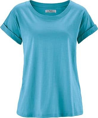 Kurzarm-Boxyshirt in blau von bonprix Bonprix