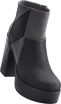 Plateaustiefelette in schwarz für Damen von bonprix