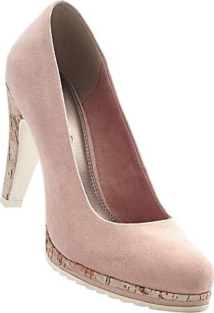 Lederpumps in rosa für Damen von bonprix