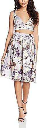 Boohoo Petite Petite Jodie Floral Bralet + Aline Skirt Co-Ord, Falda para Mujer, Gris, 38