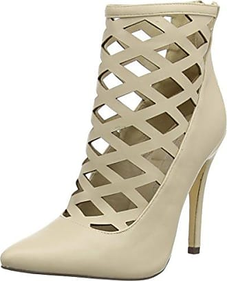 Caged Stud High Heel Shoe - Sandalias Mujer, Color Marrón, Talla 40.5 Boohoo