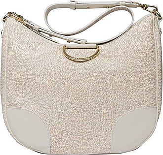Borbonese Cream colored large handbag